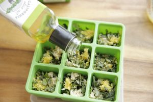 Frozen-Herb-Starters-Filling-with-Rosemary-Oil